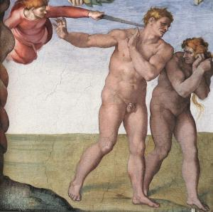 Michelangelo,_Fall_and_Expulsion_from_Garden_of_Eden_02